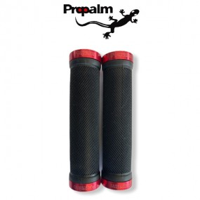 POIGNEES VTT / BMX PROPALM LOCK-ON NOIR / ROUGE