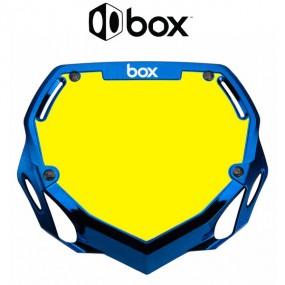PLAQUE BOX TWO CHROME BLEU...